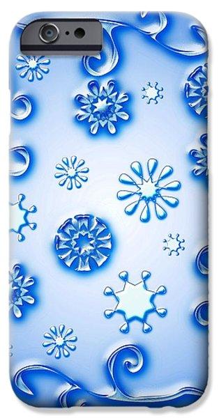 Glass Snowflakes IPhone Case by Anastasiya Malakhova
