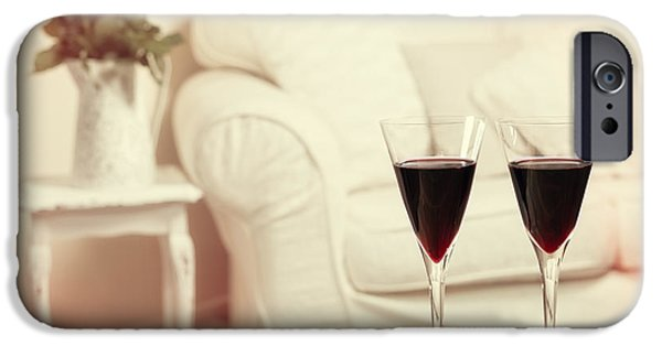 Glasses Of Red Wine IPhone Case by Amanda Elwell