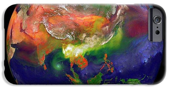 Global Fires IPhone Case by William Putman/nasa Goddard Space Flight Center