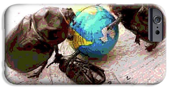 Global Harming IPhone Case by Joe Jake Pratt