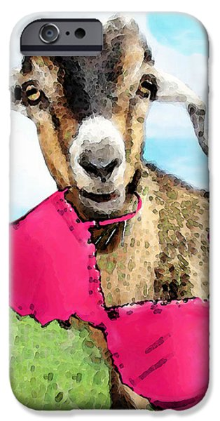Goat Art - Oh You're Home IPhone 6s Case by Sharon Cummings
