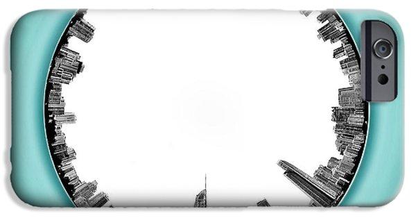 Gold Coast Skyline 5 Circagraph IPhone Case by Az Jackson