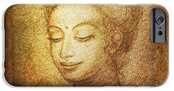 Golden Buddha IPhone Case by Ananda Vdovic