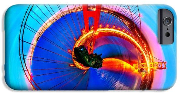 Golden Gate Bridge Circagraph IPhone Case by Az Jackson