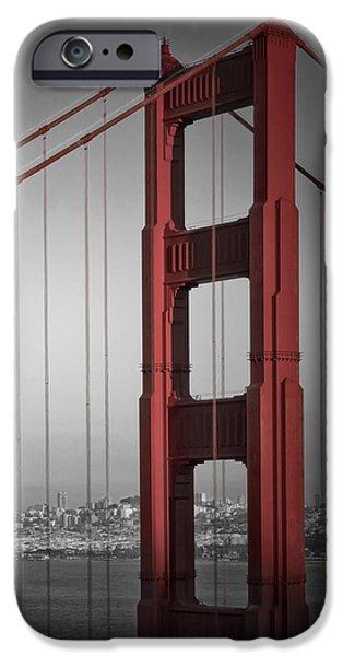 Golden Gate Bridge - Downtown View IPhone Case by Melanie Viola