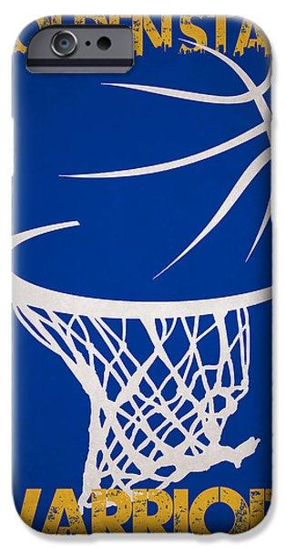 Golden State Warriors Hoop IPhone Case by Joe Hamilton