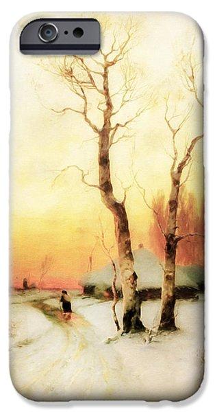 Golden Winter Of Forgotten Dreams IPhone Case by Georgiana Romanovna