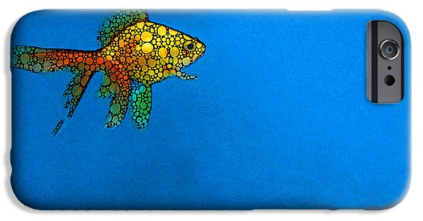 Goldfish Study 4 - Stone Rock'd Art By Sharon Cummings IPhone 6s Case by Sharon Cummings