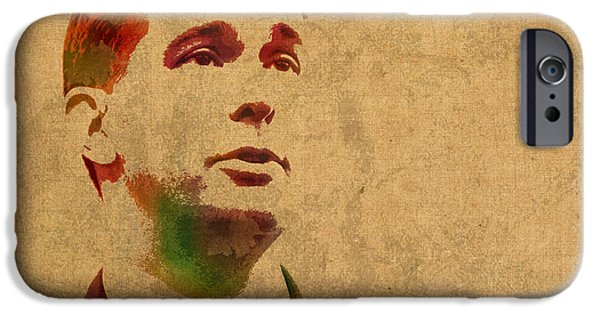 Governor Scott Walker Watercolor Portrait On Worn Distressed Canvas IPhone 6s Case by Design Turnpike