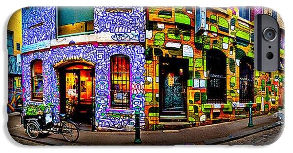 Graffiti Lane   IPhone Case by Az Jackson