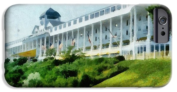 Grand Hotel Mackinac Island Ll IPhone Case by Michelle Calkins