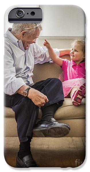 Grandpa's Little Princess IPhone Case by Diane Diederich