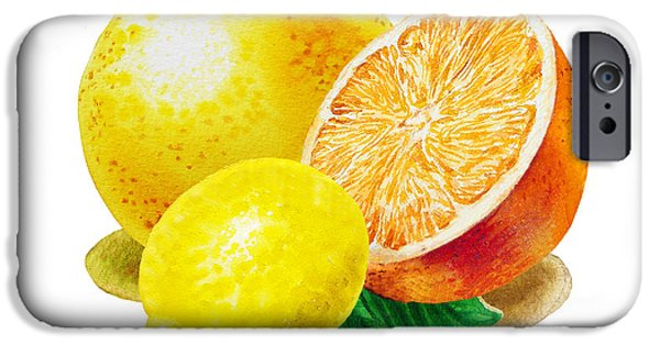 Grapefruit Lemon Orange IPhone 6s Case by Irina Sztukowski