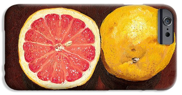 Grapefruits Oil Painting IPhone 6s Case by