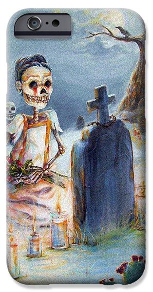 Grave Sight IPhone Case by Heather Calderon