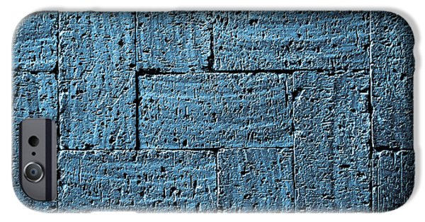 Gray Blue Burnt Bricks Pavement IPhone Case by Jozef Jankola