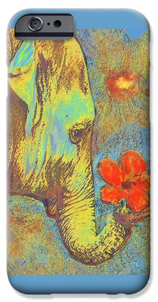 Green Elephant IPhone Case by Jane Schnetlage