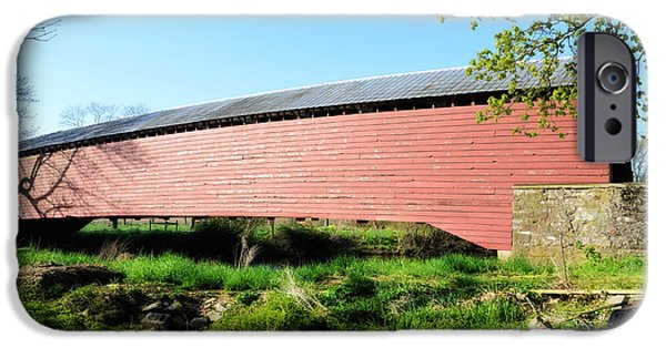 Griesemer's Covered Bridge Berks County IPhone Case by Bill Cannon
