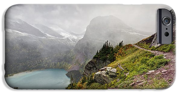 Grinnell Glacier Trail IPhone Case by Mark Kiver