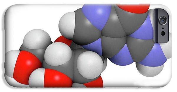 Guanosine Purine Nucleoside Molecule IPhone Case by Molekuul