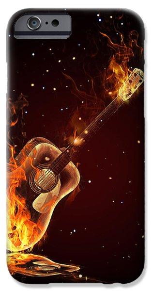 Guitar  IPhone Case by Mark Ashkenazi