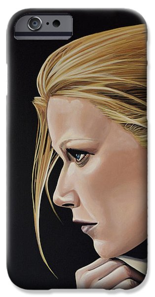 Gwyneth Paltrow Painting IPhone Case by Paul Meijering