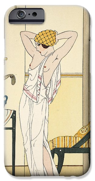 Hair Washing IPhone Case by Joseph Kuhn-Regnier