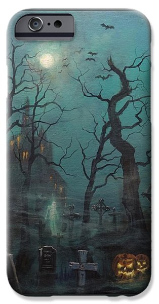 Halloween Ghost IPhone Case by Tom Shropshire