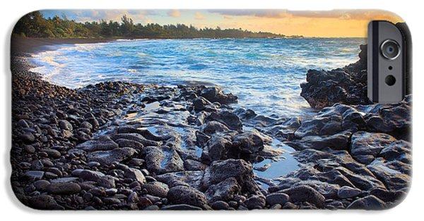 Hana Bay Sunrise IPhone Case by Inge Johnsson