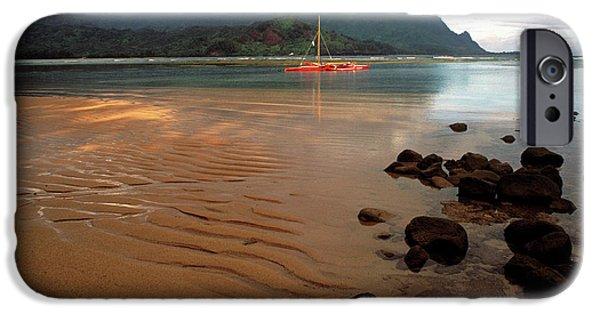 Hanalei Bay At Dawn IPhone Case by Kathy Yates