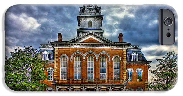 Before It Burned Hancock County Courthouse IPhone Case by Reid Callaway