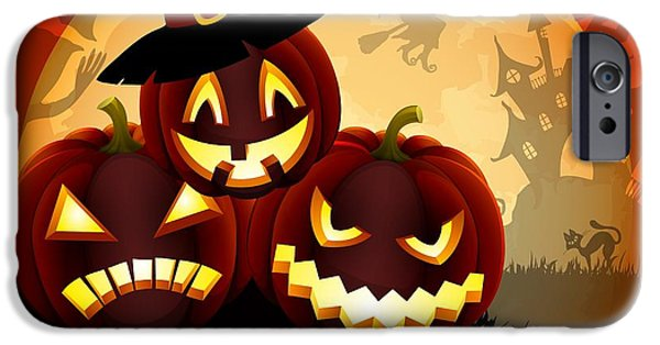 Happy Halloween IPhone Case by Gianfranco Weiss