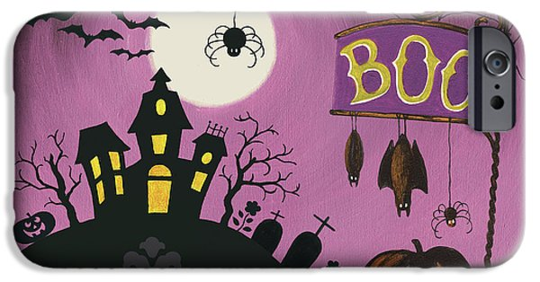 Happy Haunting Boo IPhone Case by Lisa Audit