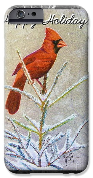 Happy Holidays IPhone Case by Marilyn Smith