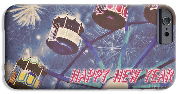 Happy New Year IPhone Case by Angela Doelling AD DESIGN Photo and PhotoArt