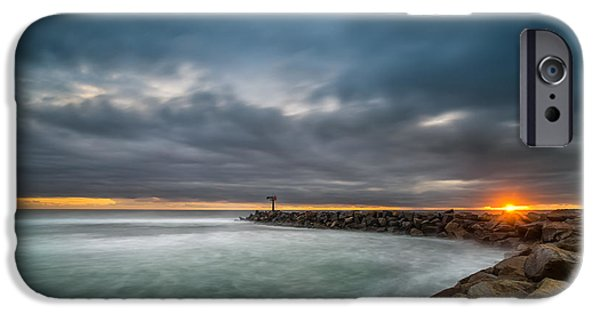 Harbor Jetty Sunset IPhone Case by Larry Marshall