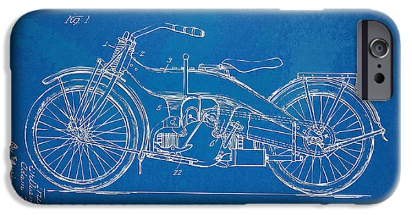 Harley-davidson Motorcycle 1924 Patent Artwork IPhone 6s Case by Nikki Marie Smith