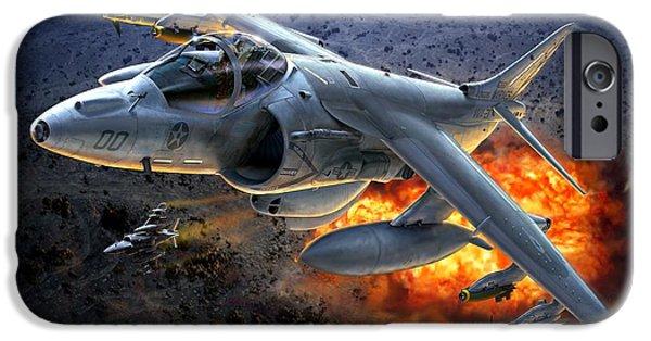 Harrier By Night IPhone Case by Stu Shepherd