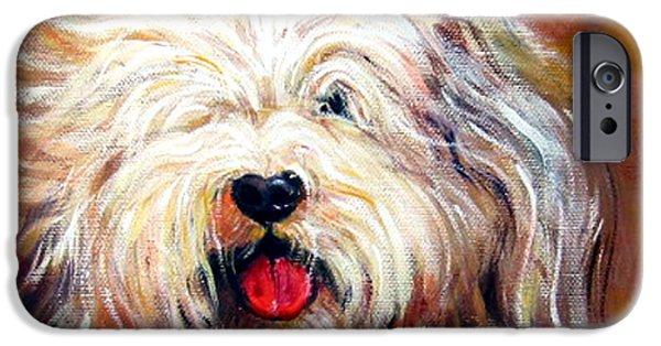 Harvey The Sheepdog IPhone Case by Rebecca Korpita