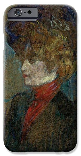 Head Of An English Lady IPhone Case by Henri de Toulouse-Lautrec