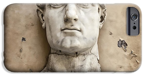 Head Of Constantine IPhone Case by Joan Carroll
