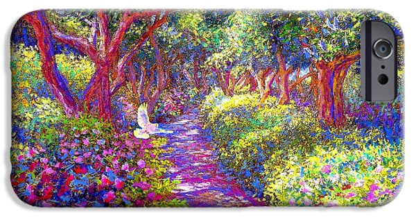 Dove And Healing Garden IPhone Case by Jane Small