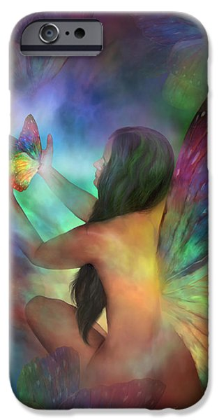 Healing Transformation IPhone Case by Carol Cavalaris