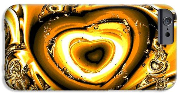 Heart Of Gold IPhone Case by Anastasiya Malakhova