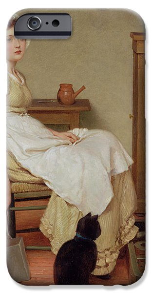 Her First Place IPhone Case by George Dunlop Leslie