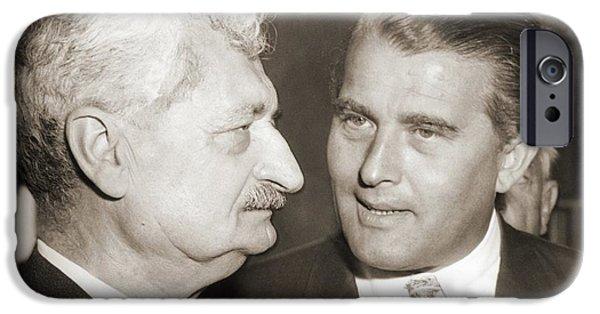 Hermann Oberth And Wernher Von Braun IPhone Case by Detlev Van Ravenswaay