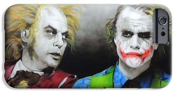 Health Ledger - ' Hey Why So Serious? ' IPhone 6s Case by Christian Chapman Art