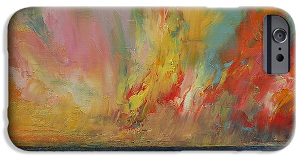 Hidden Heart Lava Sky IPhone Case by Michael Creese