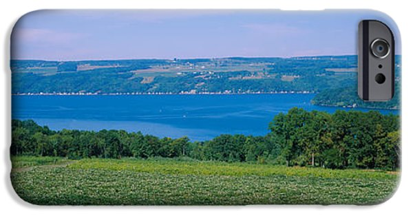 High Angle View Of A Vineyard IPhone Case by Panoramic Images