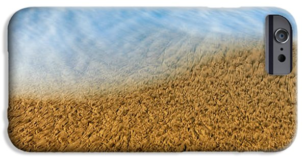 High Angle View Of Waves On The Beach IPhone Case by Panoramic Images